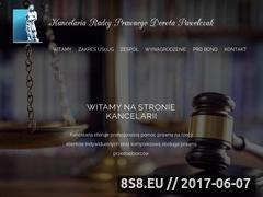 Miniaturka kancelariapawelczak.pl (Kancelaria Pawelczak)