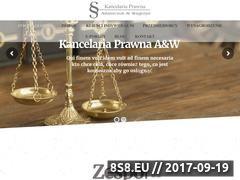 Miniaturka domeny kancelariaprawna-aw.pl