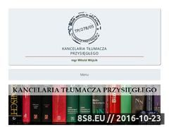 Miniaturka domeny www.kancelariatlumacza.pl
