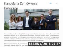Miniaturka domeny kancelariazamowieniapubliczne.pl