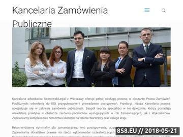 Zrzut strony Adwokat - zamówienia publiczne Warszawa