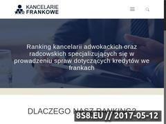 Miniaturka kancelariefrankowe-ranking.pl (Kancelarie - kredyt we frankach)