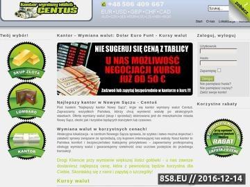 Zrzut strony Kursy i wymiana walut