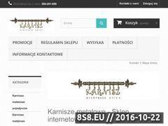 Miniaturka domeny karnisz.ostrowiec.pl