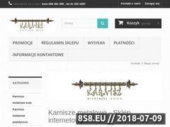 Miniaturka karniszeonline.com.pl (PHU Karnisz - karnisze metalowe pojedyncze)