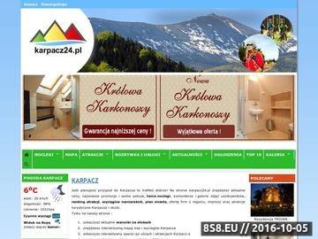 Zrzut strony O Karpaczu informacje o miejscowości Karpacz