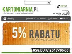 Miniaturka kartoniarnia.pl (Hurtownia kartonów)