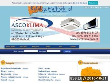 Zrzut strony KATALOG.MALBORK.PL - katalog firm, instytucji oraz wartościowych informacji.