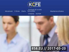 Miniaturka www.kcfe.pl (Doradztwo w zakresie pozyskiwania dotacji)