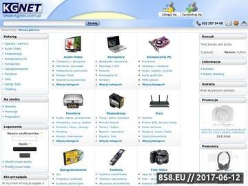 Zrzut strony Sklep komputerowy KGNET