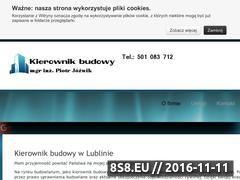 Miniaturka domeny www.kierownikbudowyjozwik.pl