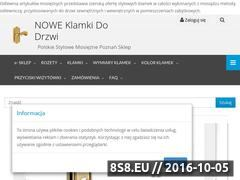 Miniaturka domeny klamkidodrzwi.sklep.pl