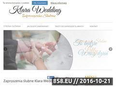 Miniaturka domeny www.klara-wedding.pl