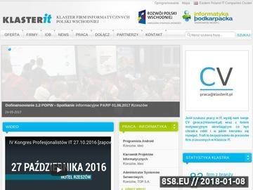 Zrzut strony Usługi informatyczne w KlasterIT.pl