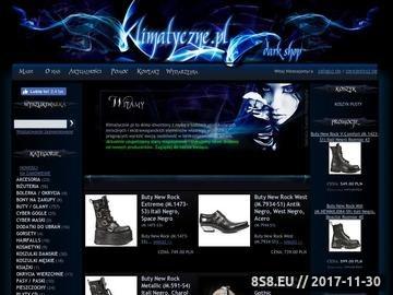Zrzut strony Sklep z modą alternatywną w stylu Gothic, Cyber, Punk, Gothic Lolita, Metal,