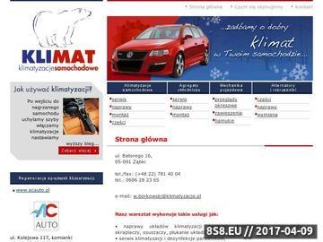 Zrzut strony Naprawa klimatyzacji samochodowej Warszawa