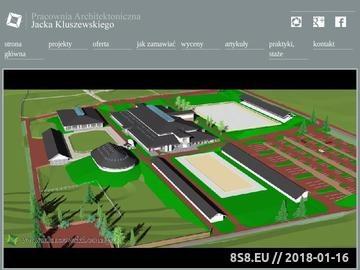 Zrzut strony Architekt Jacek Kluszewski Warszawa