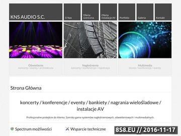 Zrzut strony KNS Audio wynajem nagłośnienia