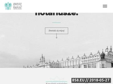 Zrzut strony Notariusz Ewa Knuplerz Kraków