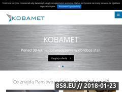 Miniaturka www.kobamet.pl (Balustrady, schody, zabudowa i meble)