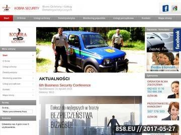 Zrzut strony Agencja ochrony Łódź