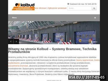 Zrzut strony Bramy przemysłowe, systemy bramowe, technika przeładunku - Kolbud Sp. z o.o.
