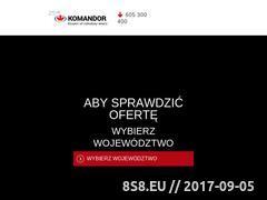 Miniaturka domeny www.komandor.pl
