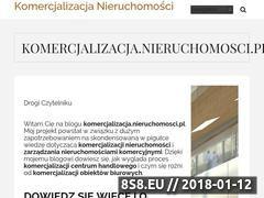 Miniaturka komercjalizacja.nieruchomosci.pl (Baza wiedzy o komercjalizacji nieruchomości)