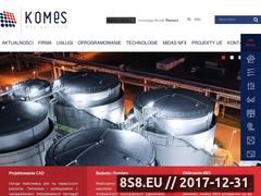 Miniaturka komes.pl (Oprogramowanie MES)