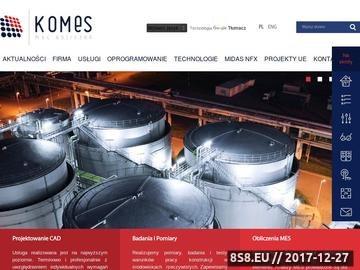 Zrzut strony Program MES - KOMES