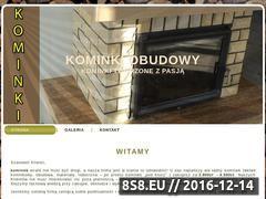Miniaturka domeny www.kominkiobudowy.pl
