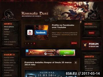 Zrzut strony Komnata Dusz - serwis informacyjny o grze Diablo 3