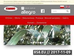 Miniaturka www.komnino.com.pl (Producent zbiorników ciśnienowych)
