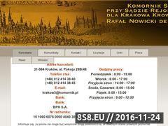 Miniaturka domeny www.komornik-krakow.pl