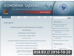Miniaturka domeny komornik-wolomin.pl