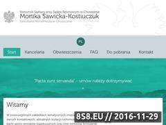 Miniaturka domeny komornikwchoszcznie.pl