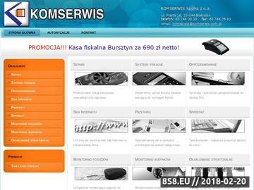Zrzut strony Firma informatyczna Komserwis - Komputery, kasy fiskalne