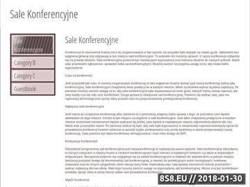 Zrzut strony Blog o miejscach konferencyjnych