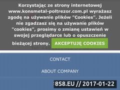 Miniaturka domeny www.konsmetal-poltrezor.com.pl