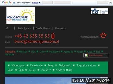 Zrzut strony Biuro podróży - wycieczki egzotyczne - Konsorcjum Polskich Biur Podróży