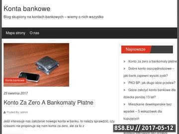Zrzut strony Rachunek bankowy