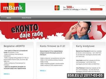 Zrzut strony MBank - Najlepsze bezpłatne konto bankowe w Polsce!