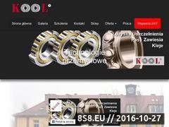 Miniaturka www.kool.com.pl (Kool - łożyska, zawiesia, kleje, uszczelnienia <strong>legnica</strong> )