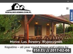 Miniaturka domeny www.kopalino-domki.com.pl
