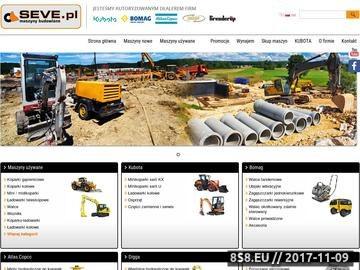 Zrzut strony Koparki używane - sprzedaż sprzętu budowlanego
