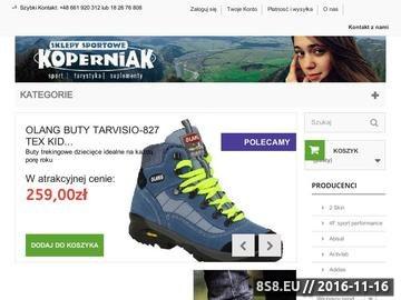 Zrzut strony Sklep Sportowy KOPERNIAK - Sprzęt, odzież, akcesoria