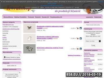 Zrzut strony Koralshop.pl - oferujemy półfabrykaty srebrne, koraliki,kamienie i kryształy.