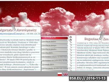 Zrzut strony Oficjalna Strona Małgorzaty Korenkiewicz i Bogusława Zena