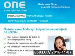 Miniaturka domeny www.korepetycje-online.com.pl