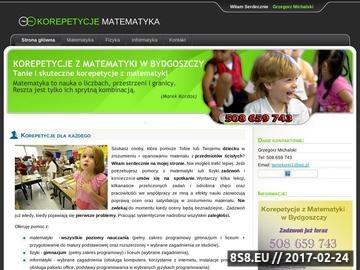 Zrzut strony Tanie Korepetycje Matematyka - Fizyka - Informatyka